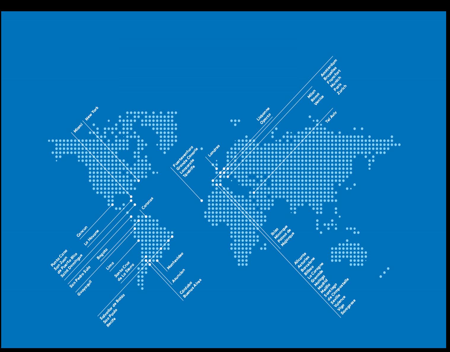 Carte du réseau Air Europa